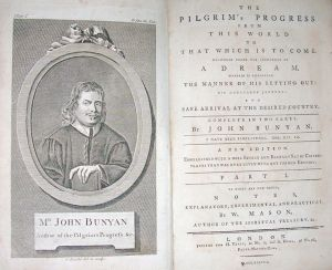 Engraving from The Pilgrim's Progress, published in London, 1778. This is the frontispiece and title-page. photo credit: Wikipedia