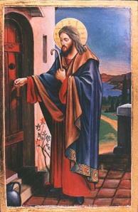 Greek Icon - Jesus Knocking at the Door