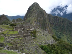 Machu Picchu, 2008, showing how the city is firmly set on the moutaintop