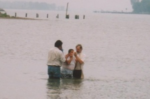 I baptize an adult in the river