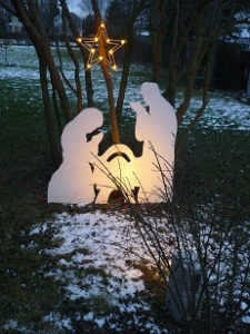 Our nativity in our side yard
