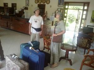 4 suitcases